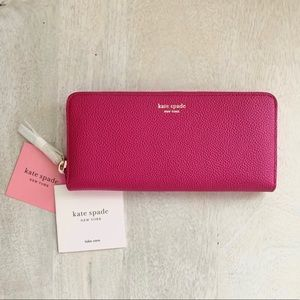 NWT Kate Spade Continental Wallet in Pomegranate